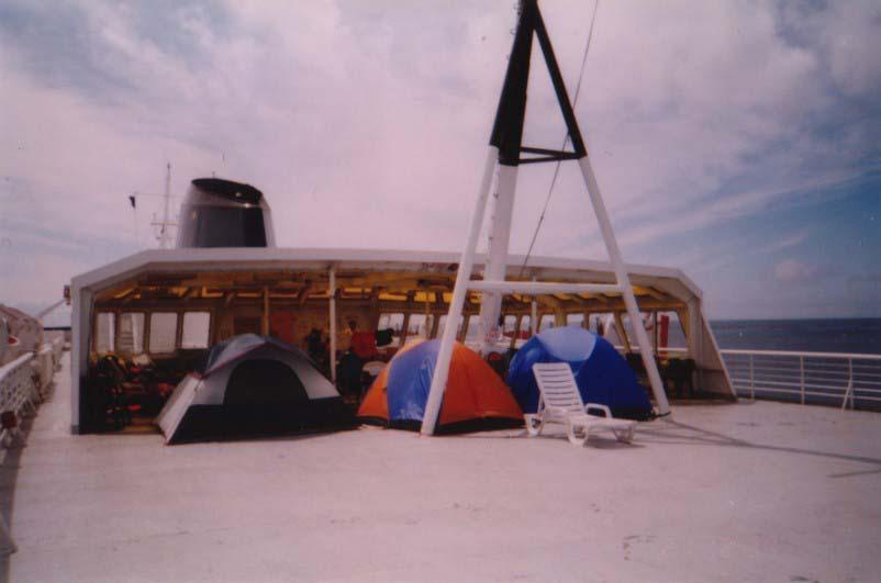 アラスカ→アメリカ本土/フェリーの甲板にて