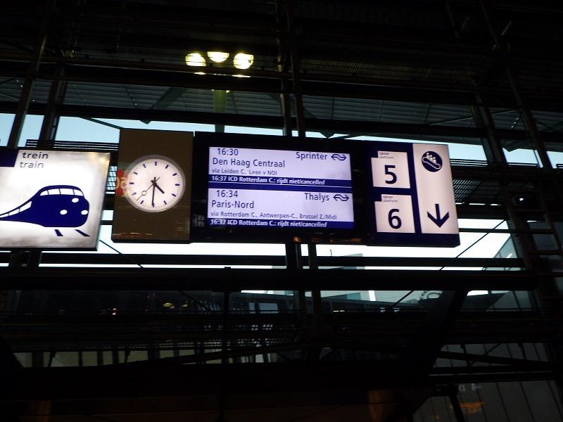 スキポール空港の鉄道駅