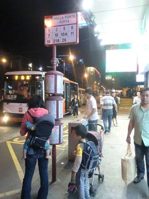 マカオのバス停