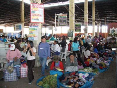 クスコの中央市場
